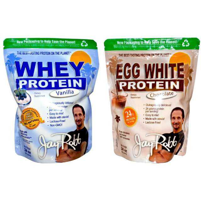 Jay Robb Whey or Egg White Protein Powder