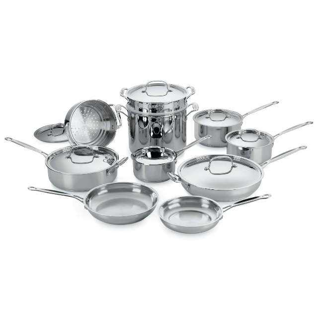 Cuisinart Chef's Classic Stainless 17-Piece Cookware Set